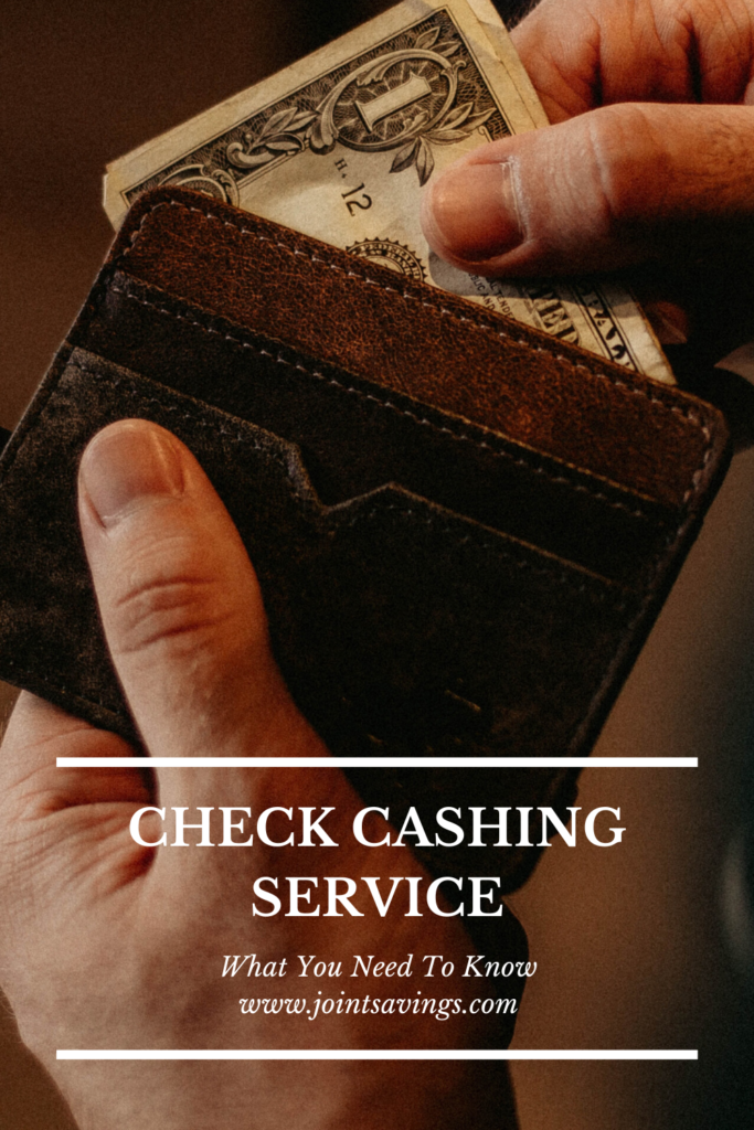 What is a check cashing service