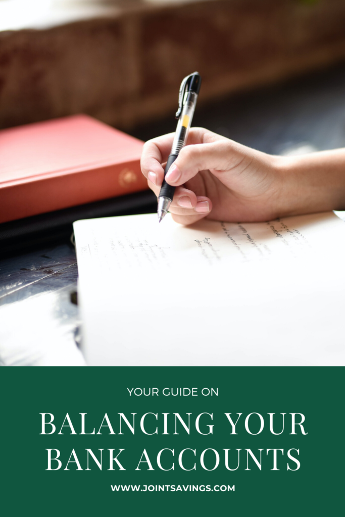 ways on how to balance your bank accounts each month